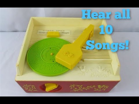 Vintage 1971 Fisher Price Music Box Record Player 995 - Playing All Songs