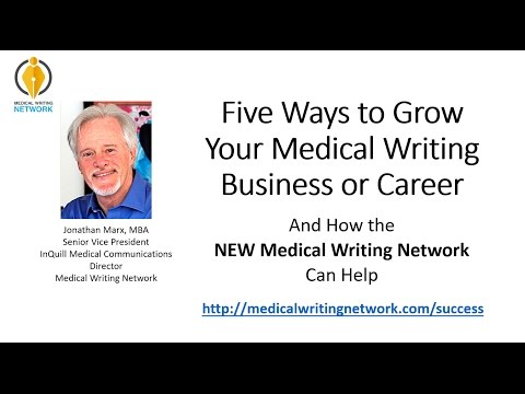 Five Ways to Grow Your Medical Writing Business or Career