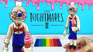 МОРОЖЕНЩИК в игре Маленькие Кошмары - Nightmares 2 Видео - лепим фигурки из пластилина с Лепка ОК