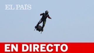 DIRECTO | FRANKY ZAPATA cruza el CANAL DE LA MANCHA en 'FLYBOARD''