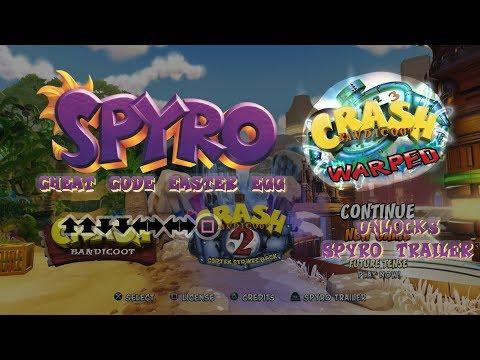 crash-bandicoot-n.-sane-trilogy:-spyro-cheat-code-easter-egg