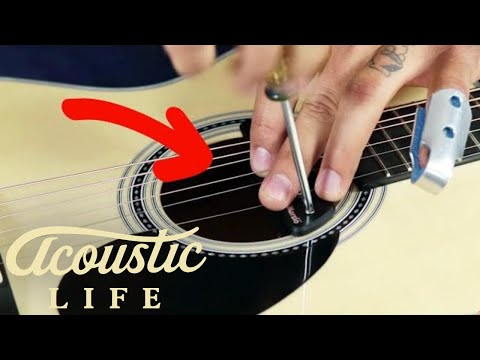 How to Install a Sound Hole Pickup In Your Acoustic Guitar - YouTube