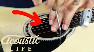 Video How to Install a Sound Hole Pickup In Your Acoustic Guitar download MP3, 3GP, MP4, WEBM, AVI, FLV Juli 2018