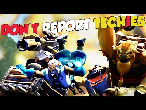 PLEASE DON'T REPORT TECHIES! - DotA 2 Funny Moments