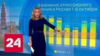 """""""Погода 24"""": столицу ждет аномальное снижение атмосферного давления - Россия 24"""