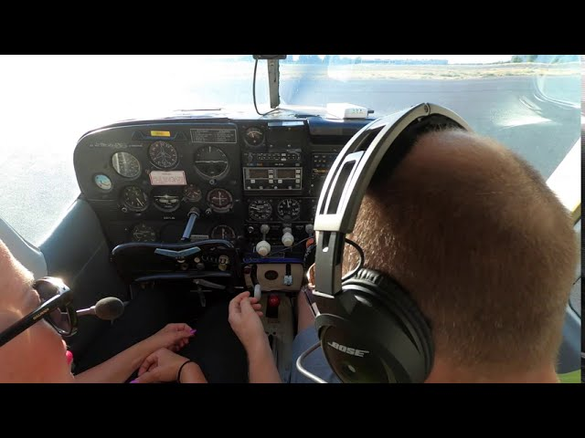 Darcy Flies Cessna 210 Over Promontory Point