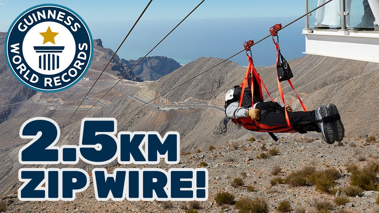 Longest zip wire - Guinness World Records - YouTube