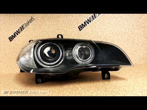 Replacement of front BMW headlight lens covers