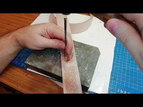 Изготовление ремня ручной работы из натуральной кожи. How To Make Handmade Leather Belt.