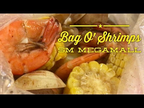 Bag O' Shrimps Boiling Seafood Bags SM Megamall Manila Philippines