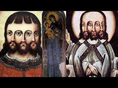 Иисус Христос Трёхликий.  Богородица троеручица и чёрная Мадонна .
