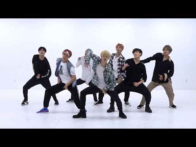 BTS 'DNA' mirrored Dance Practice