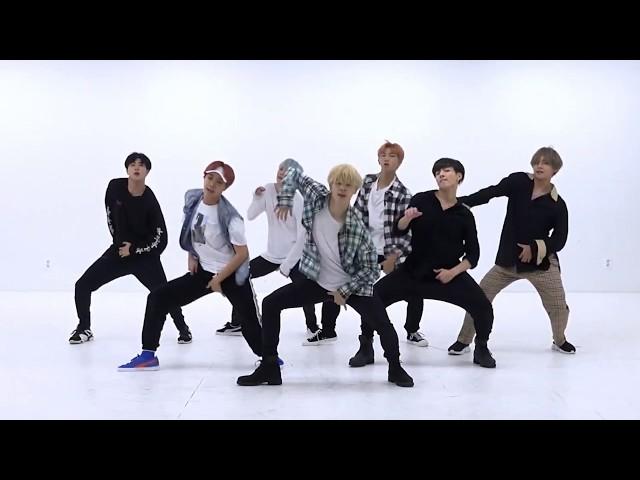 BTS 'DNA' mirrored Dance Practice
