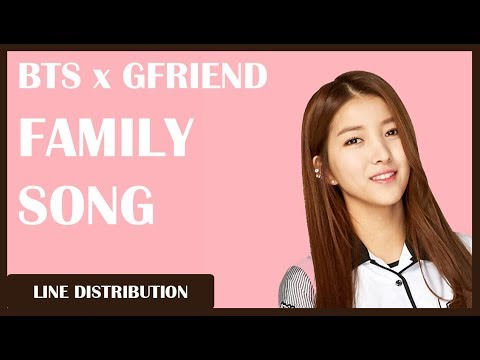 BTS x GFRIEND - Family Song Wednesday: Line Distribution (Color Coded)