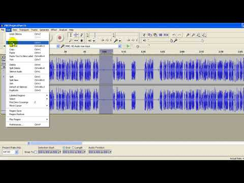 Audacity Tutorial - Spend time removing the hollow echoey sounds