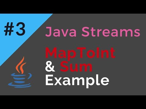 Java Streams | MapToInt & Sum Example | Tech Primers