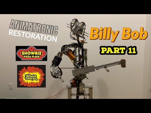 Animatronic Restoration Part 11 - BILLY BOB - Rockafire Explosion - Showbiz Pizza Eye Installation