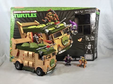 Mega Bloks TMNT Classic Party Wagon (Turtle Van) Set Review