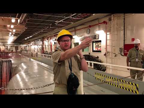 Responder submarine cable laying ship tour - for Hawaiki submarine cable