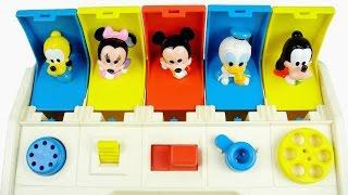 玩米奇妙妙屋 腳色頭彈出玩具 顏色 ABC 注音 數字學習 玩具開箱