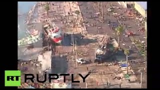 Chile Earthquake: Aerial shots of destructive aftermath of tsunami