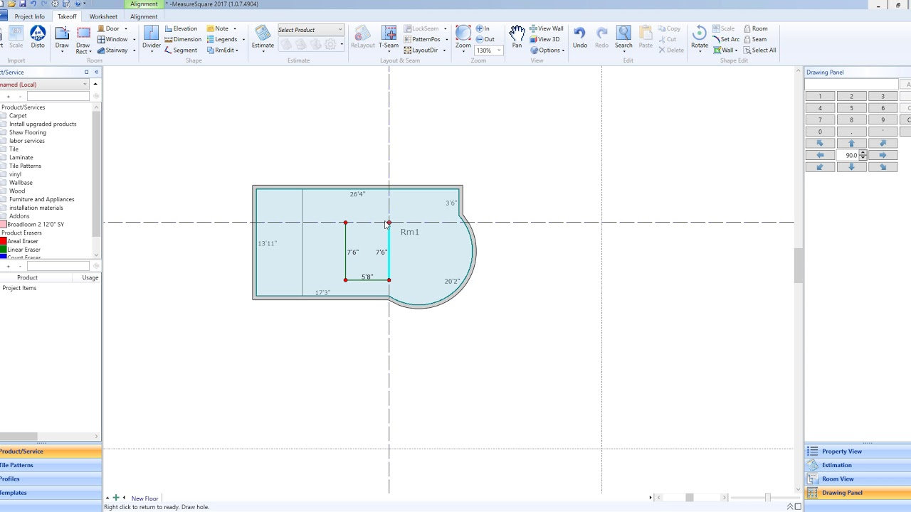 Drawing Arcscurved Walls Measure Square 8 Youtube
