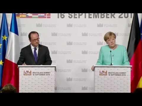 Merkel & Hollande joint press conference at Bratislava Summit