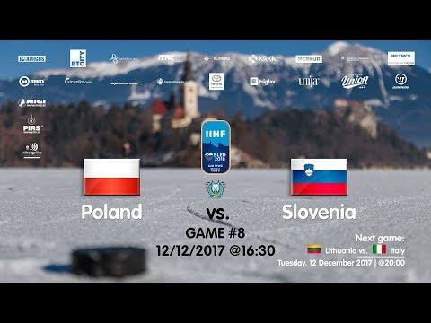 Poland - Slovenia #IIHFWJC1B #Bled