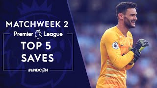 Top five Premier League saves from 2019-20 Matchweek 2 | NBC Sports