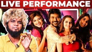 Oru Sattai Oru Balpam Song – Saravedi Saran Live Performance | Kanchana 3