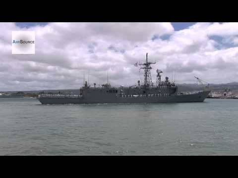 USS McClusky (FFG 41) Guided Missile Frigate Arriving at Joint Base Pearl Harbor-Hickam