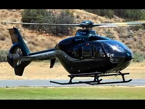Executive Eurocopter EC135 Helicopter N367W at Agua Dulce Airport 2016
