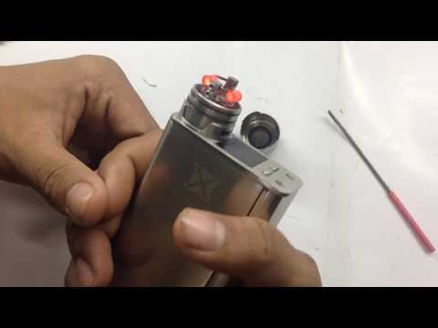 Clean and change cotton | RDA tank | using toothbrush