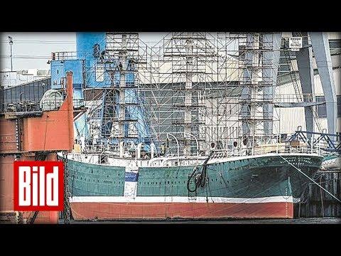 """Rickmer Rickmers die """"Grüne Lady"""" von Hamburg - BILD besucht das Segelschiff"""