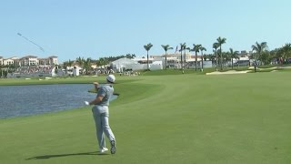 Rory McIlroy's approach into water and club toss at the Cadillac Championship