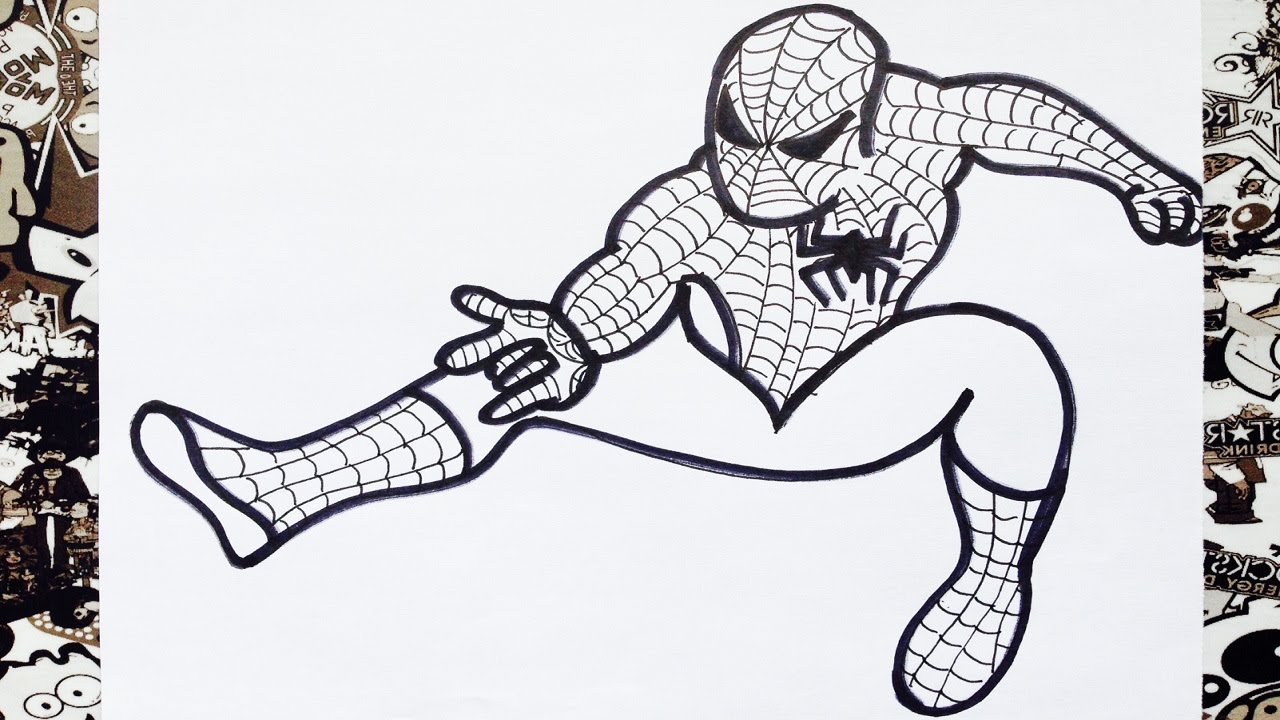 Como Dibujar A Spiderman