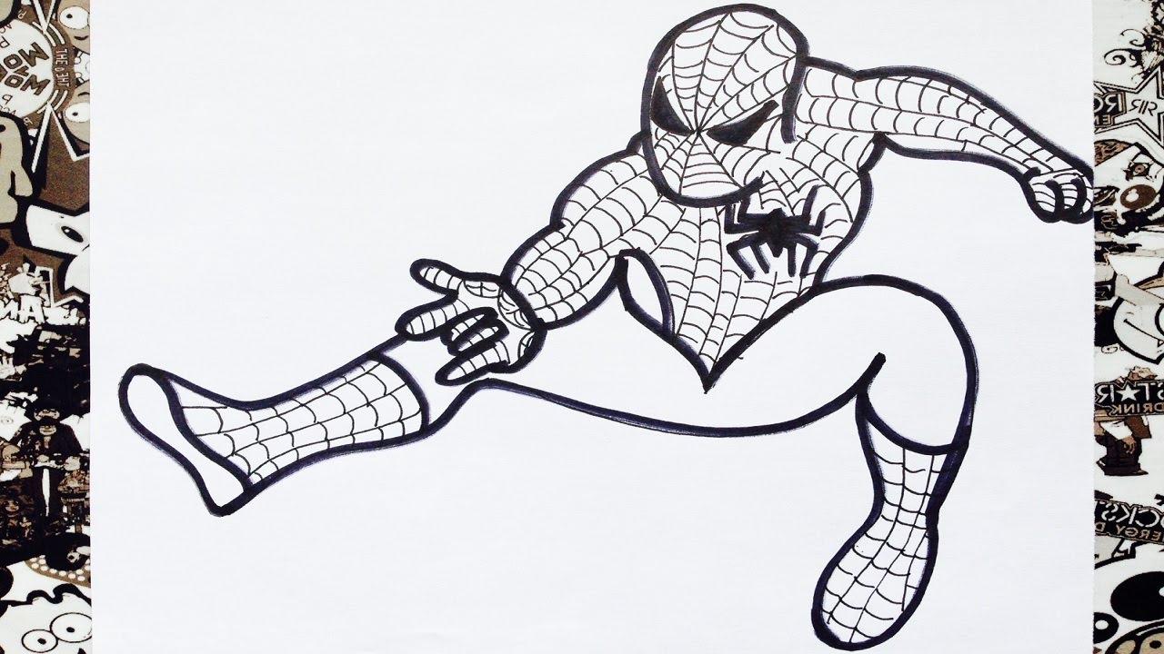 Spiderman De Dibujos. Fabulous Venta Caliente De La Manera