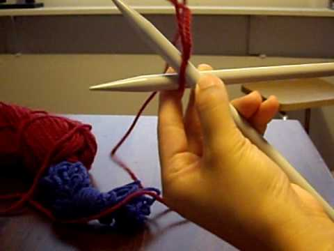 2 Different Casting On Techniques Knit Stitch Youtube