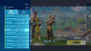 Fortnite BR (playground) Cousin thinks im hacking !!!