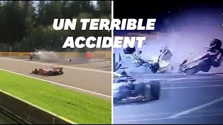 Les images de l'accident d'Anthoine Hubert sur le circuit de Formule 2