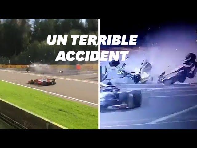 Les images de l'accident d'Anthoine Hubert sur le circuit de Formule 2