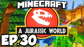 Jurassic World: Minecraft Modded Survival Ep.30 - CARNIVORE DINOSAUR EXPANSION!!! (Rexxit Modpack)