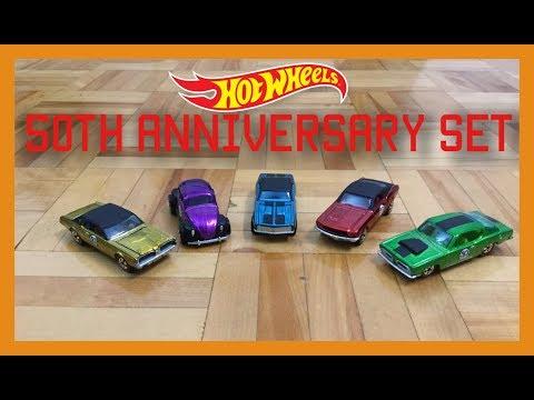 Hot Wheels 2018 50th Anniversary Redline Replica Set All 5 Cars!