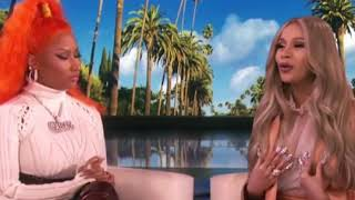Nicki Minaj and Cardi B on The Ellen Show