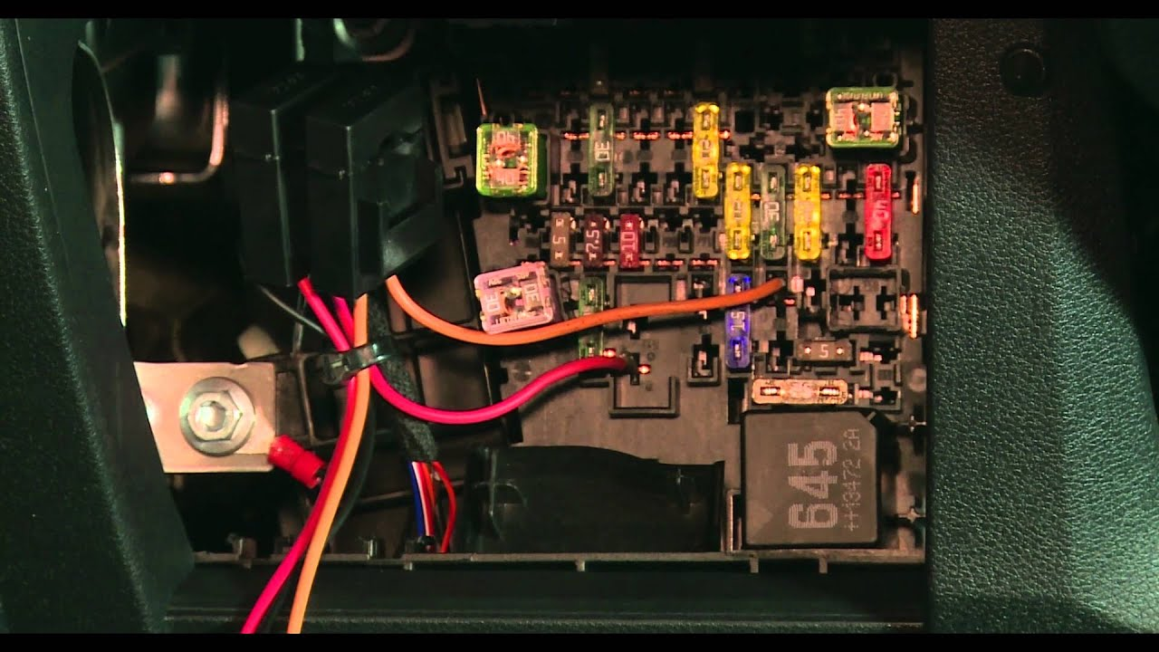 seat heating installation skoda octavia 2014  [ 1280 x 720 Pixel ]