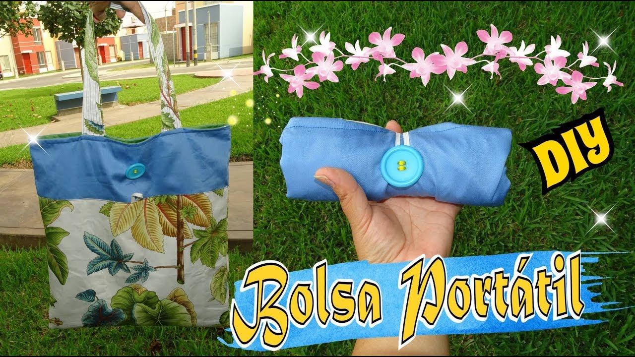 e7d26253c Bolsa de compras Portatil en Tela muy fácil - Tote Bag DIY Tutorial ...