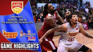Saigon Heat vs Tanduay Alab Pilipinas | HIGHLIGHTS | 2017-2018 ASEAN Basketball League