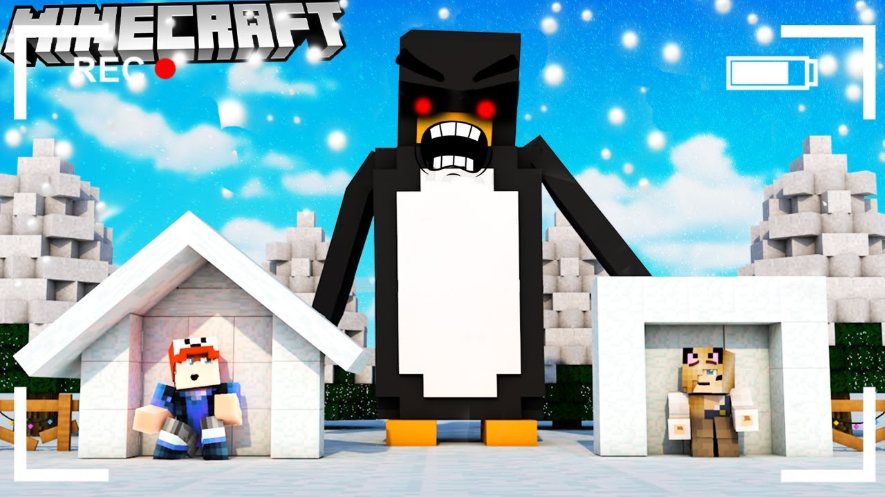 Baza Vs Pingwinexe Minecraft Tsunami Challenge Vito Vs Bella