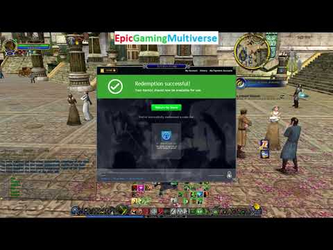 Tutorial For How To Redeem A Code To Acquire 50 Mithril Coins For Free From The LOTRO Store In LOTRO