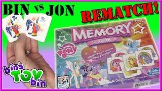 Bin Vs. Jon REMATCH - My Little Pony Memory Game! | Bin's Toy Bin